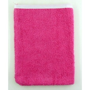 gants de toilette avec écriture personnalisée