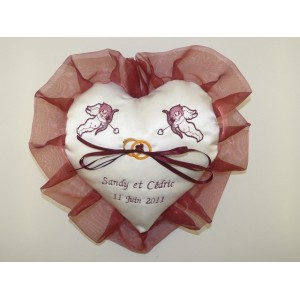 coussin mariage coeur