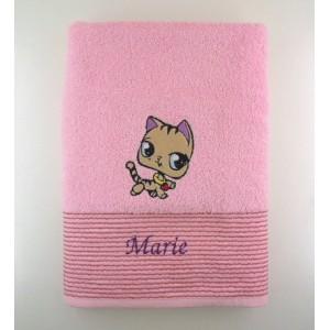 parure rose + gant de toilette